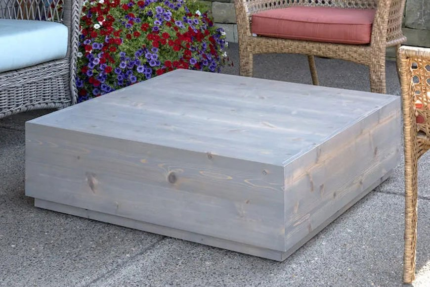 Cedar coffee table from DIY Candy