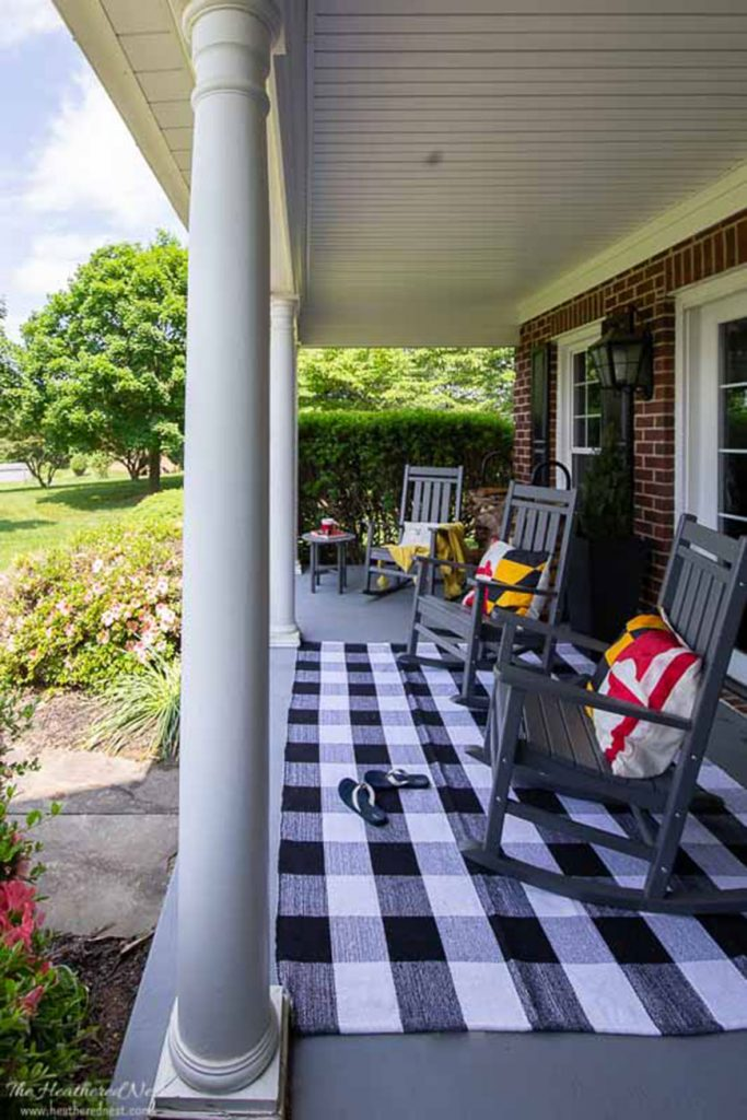 Front porch living by The Heathered Nest