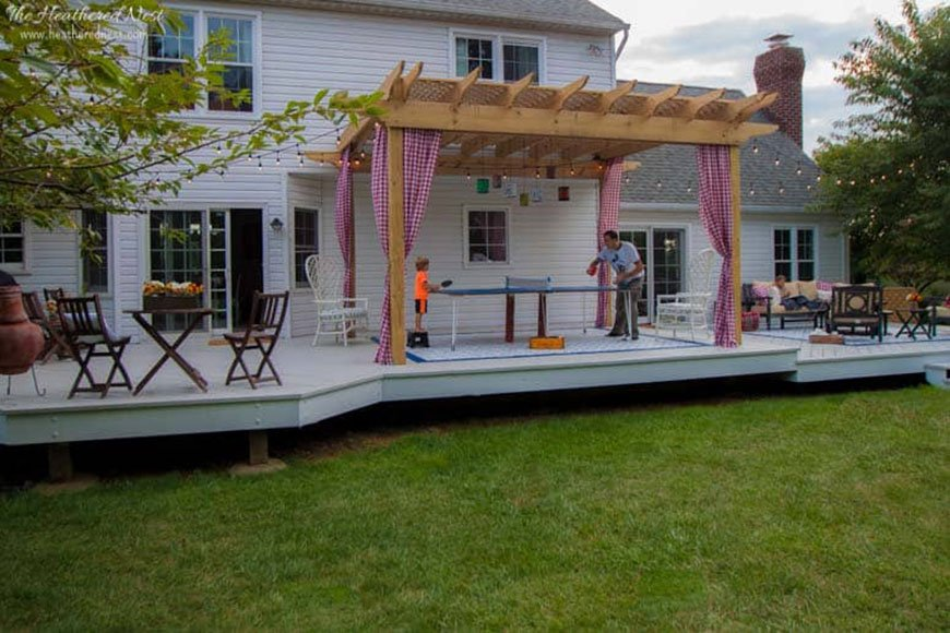 Large deck refresh by The Heathered Nest