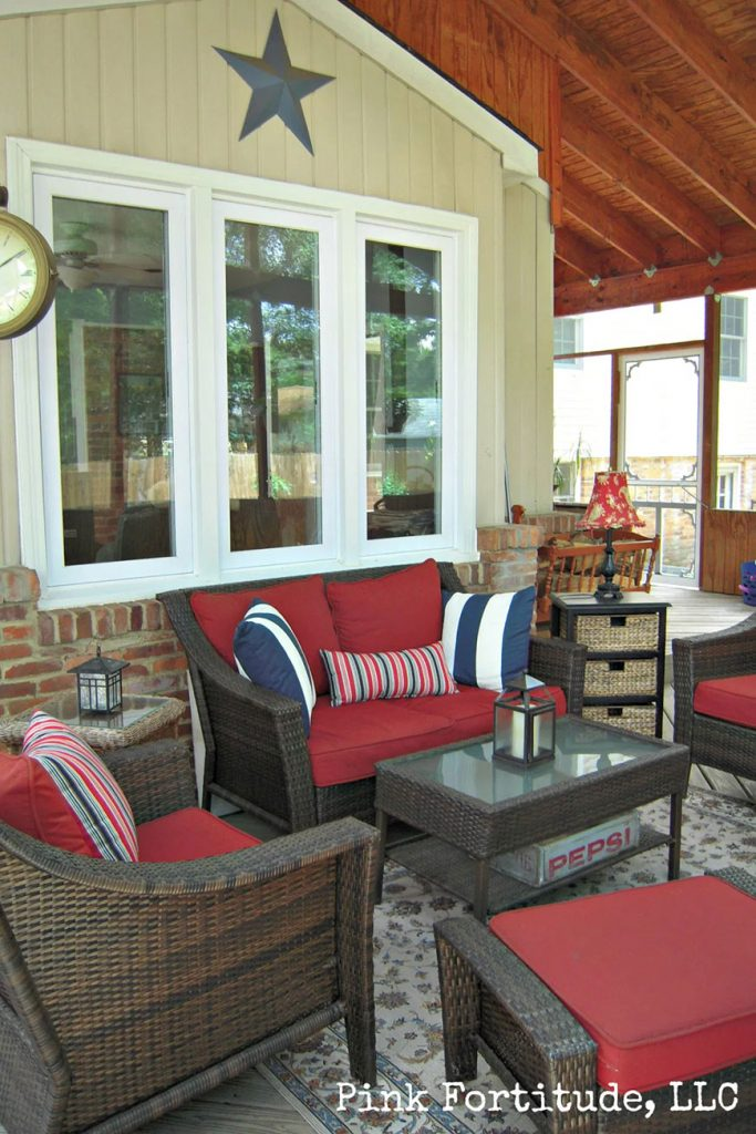 A covered porch transformation from Pink Fortitude