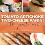 pin image for tomato artichoke two cheese panini