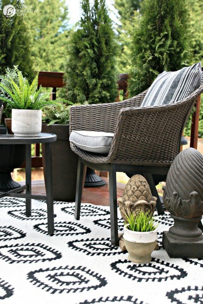 Budget-friendly patio refresh by Today's Creative Life