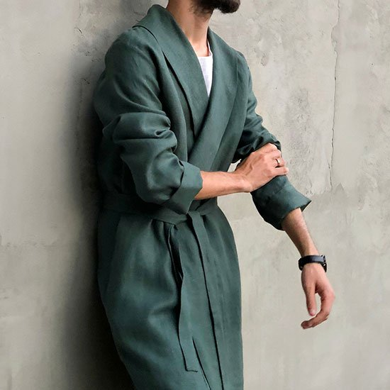 linen robe by Black Ficus