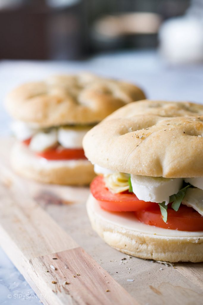 panini sandwiches before grilling
