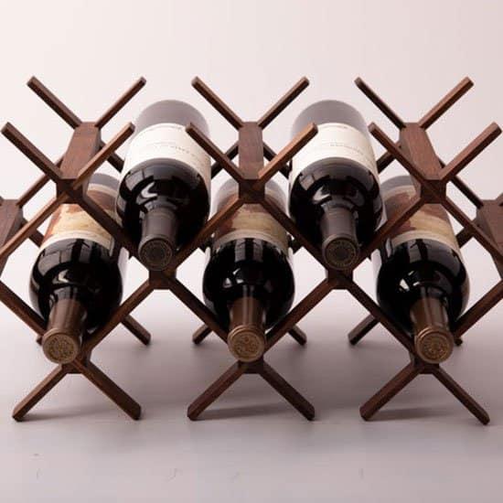 Walnut wine rack by SelectWoodWineRacks