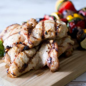 easy weeknight grilled adobo chicken thighs