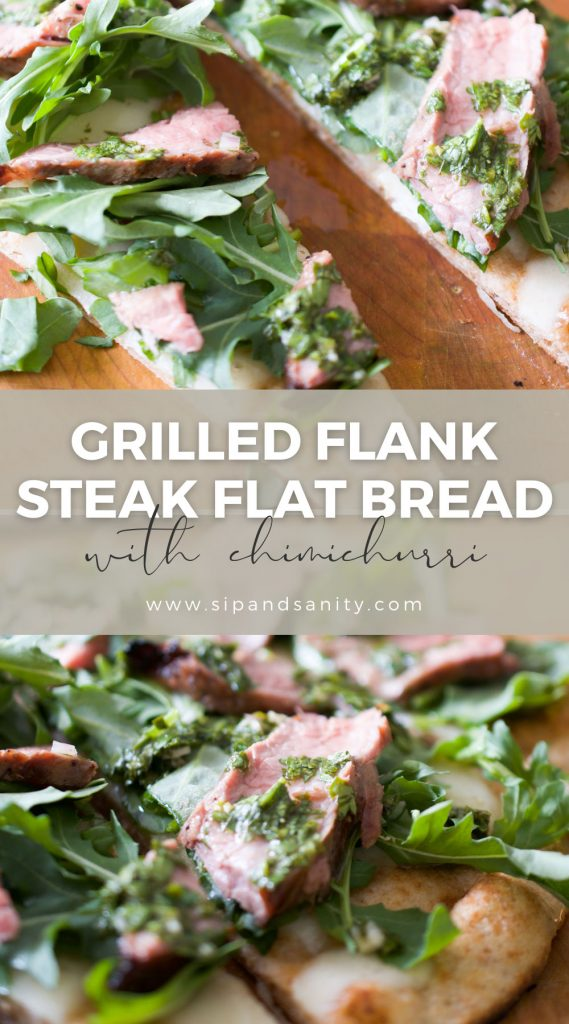 pin image for grilled flat bread