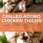 pin image for grilled adobo chicken thighs