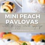 pin image for mini peach pavlovas