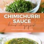 pin image for chimichurri sauce