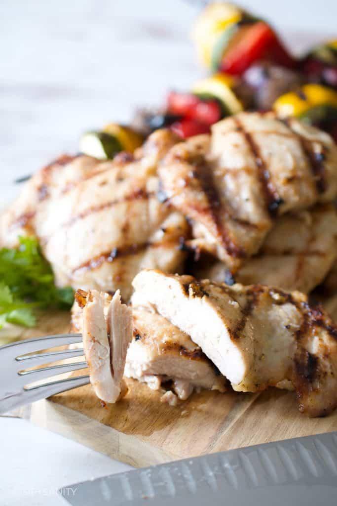 sliced chicken thighs