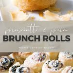pin image for savory brunch rolls