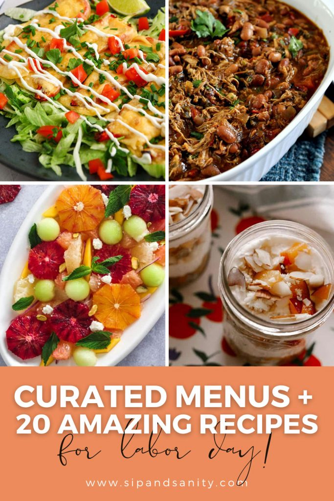 pin image for labor recipes and menu ideas