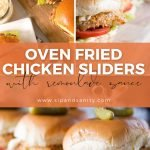 pin image for oven fried chicken sliders