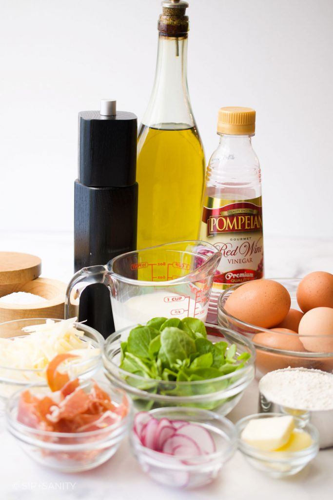 various ingredients set out on a table