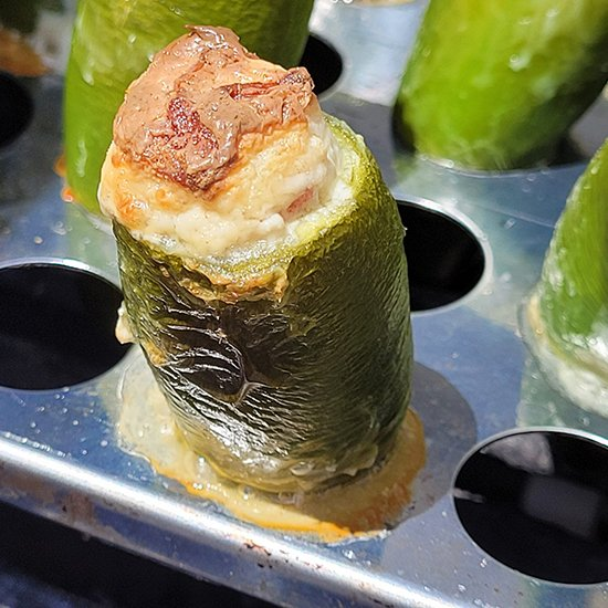 Cream Cheese Stuffed Grilled Jalapeño Poppers from Chicken Soup with Dumplings