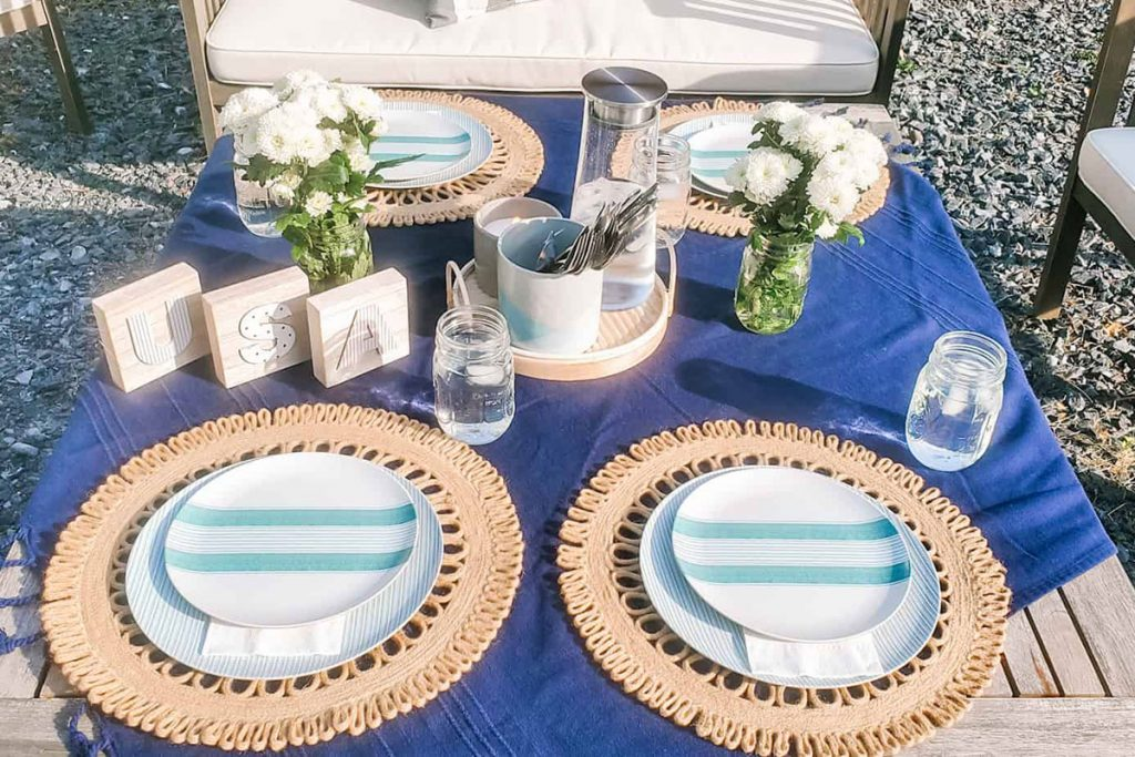 A Perfect Tablescape for Memorial Day from A Homebody's Adventures