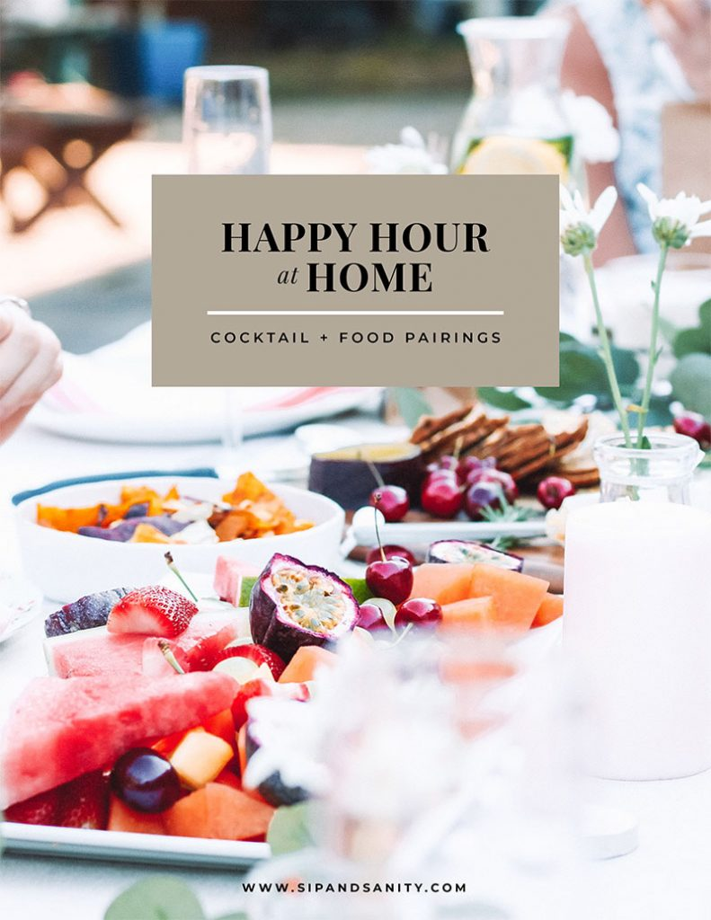 cover of the happy hour at home e-cookbook