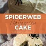 pin image for marshmallow spiderweb halloween cake