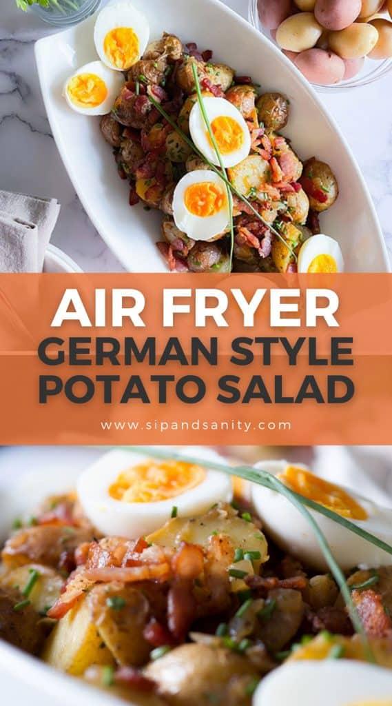 pin image for air fryer german style potato salad