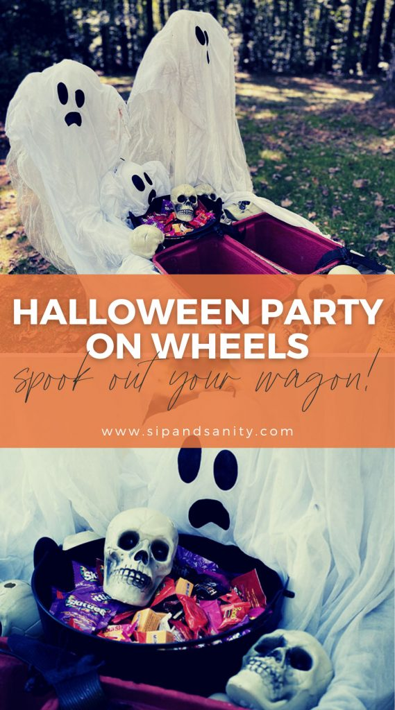 pin image for halloween party on wheels