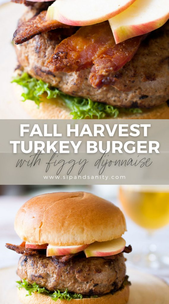 pin image for fall harvest turkey burger